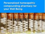 personalized homeopathic compounding pharmacy
