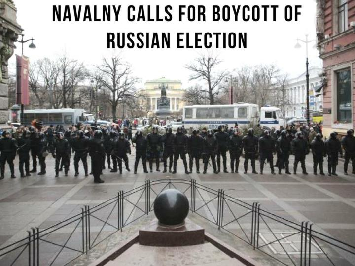 navalny calls for boycott of russian election n.
