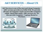 a t services about us