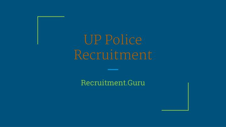 up police recruitment n.