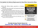 get quality car battery replacement by rum river automotive shop