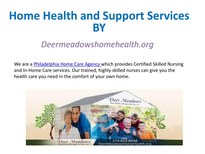 home health and support services n.