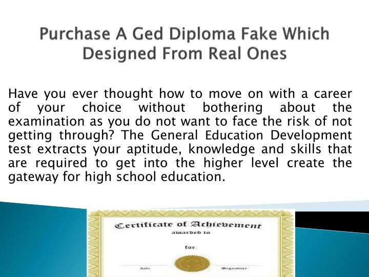 purchase a ged diploma fake which designed from real ones n.
