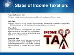 slabs of income taxation