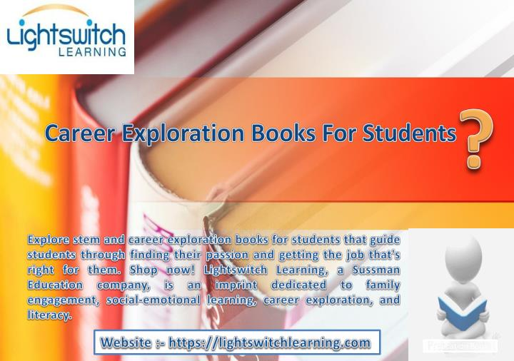 career exploration books for students n.
