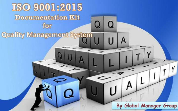 iso 9001 2015 documentation kit for quality n.
