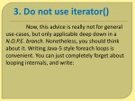 3 do not use iterator