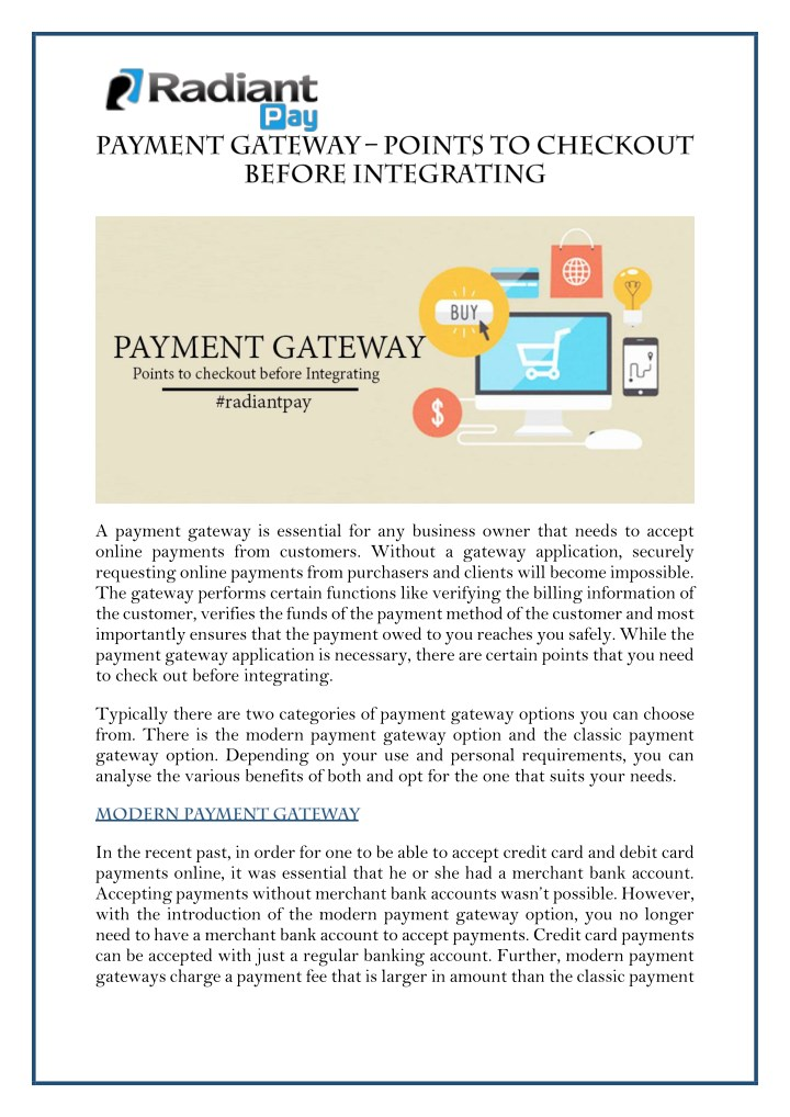 a payment gateway is essential for any business n.