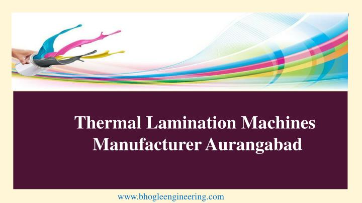 thermal lamination machines manufacturer n.