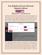 fast reliable and secure electronic signature