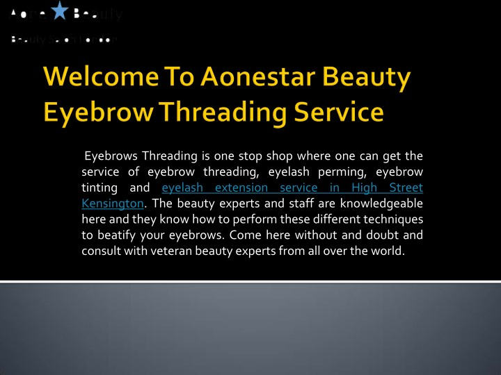 eyebrows threading is one stop shop where n.