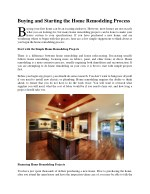 buying and starting the home remodeling process b