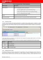 context management menu table of parameters