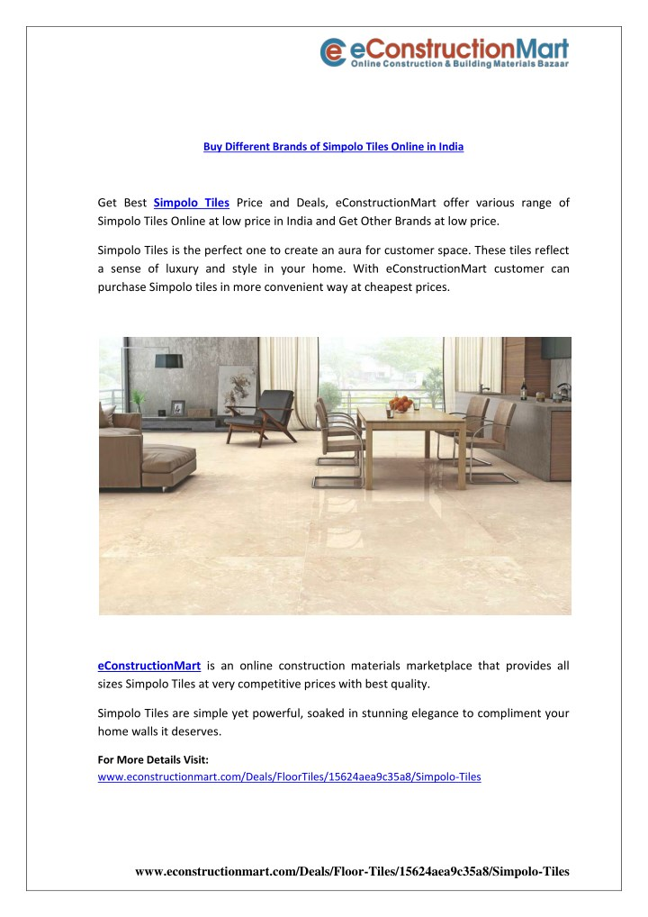 buy different brands of simpolo tiles online n.