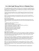 use a red light therapy device to minimize pores