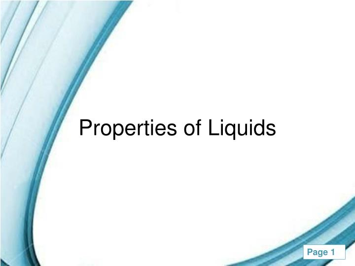 properties of liquids n.