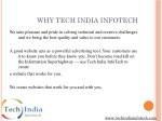 why tech india infotech