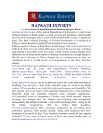 rajwadi exports a government of india recognized