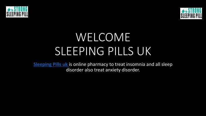 welcome sleeping pills uk n.