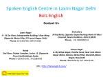 spoken english centre in laxmi nagar delhi bels 3