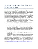 ac repair how to proceed when your ac refused