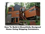 how to build a beautifully designed home using