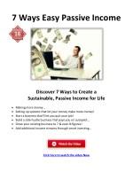 7 ways easy passive income