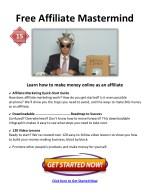 free affiliate mastermind