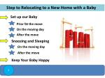 step to relocating to a new home with a baby