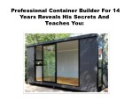 professional container builder for 14 years