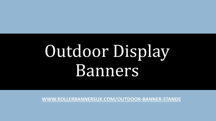 outdoor display banners n.