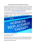 top 3 myths related to hormone replacement therapy