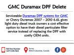 gmc duramax dpf delete