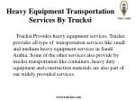 heavy equipment transportation services by trucksi