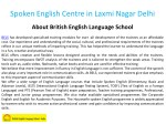 spoken english centre in laxmi nagar delhi