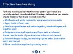 effective hand washing