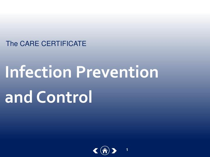 infection prevention and control n.