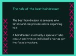 the role of the best hairdresser