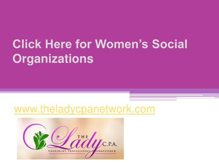 click here for women s social organizations n.