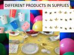 different products in supplies