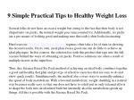 9 simple practical tips to healthy weight loss 3