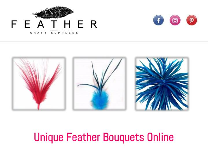 unique feather bouquets online n.