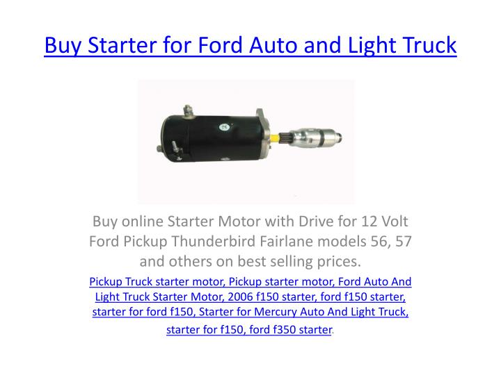 buy starter for ford auto and light truck n.