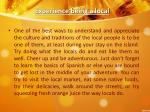 experience being a local