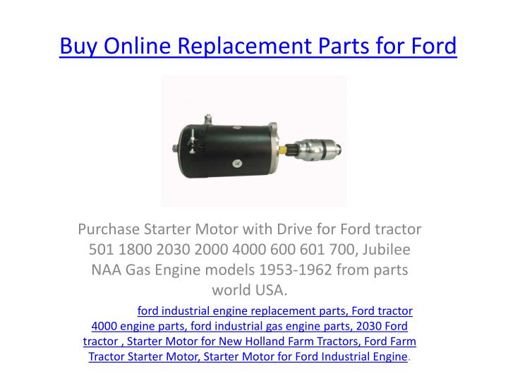 buy o nline replacement parts for ford n.