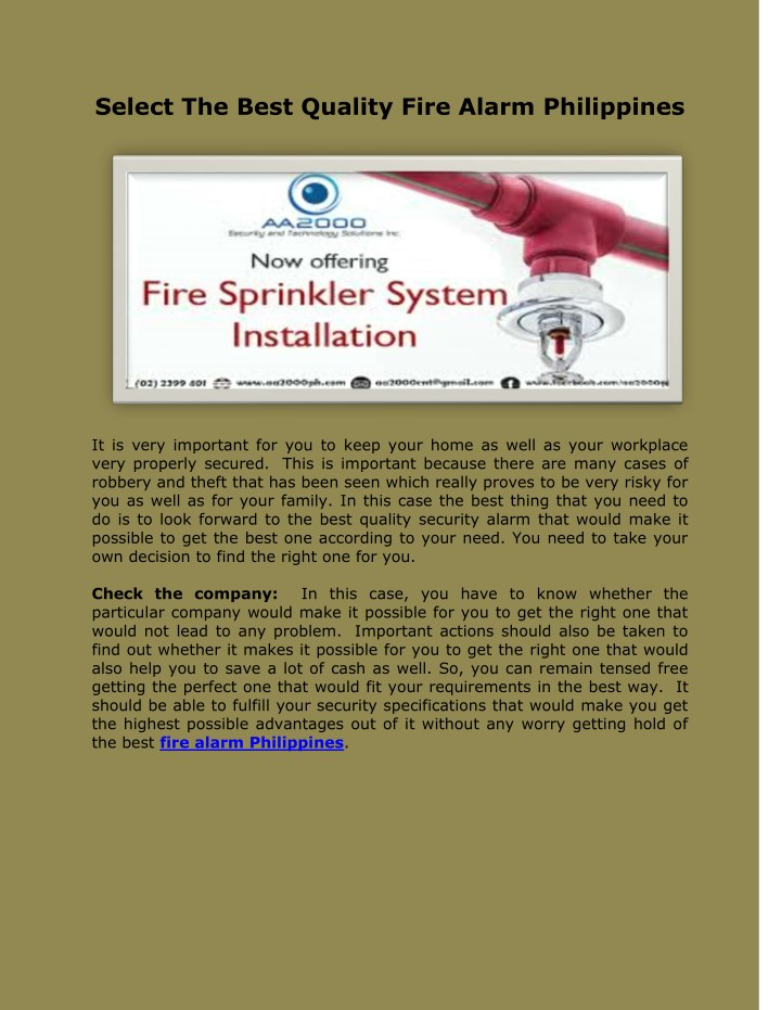 select the best quality fire alarm philippines n.