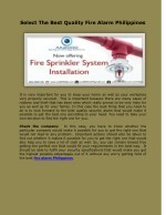 select the best quality fire alarm philippines
