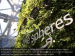 a spheres logo sits on a living wall