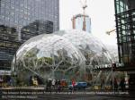 the amazon spheres are seen from 6th avenue