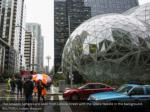 the amazon spheres are seen from lenora street